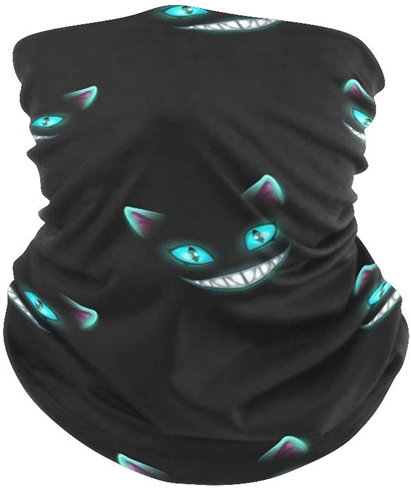Balaclava Bandanas Face Mask Cover Halloween Pumpkin Owl Neck Gaiter for Out Doors, Dust, UV Protection