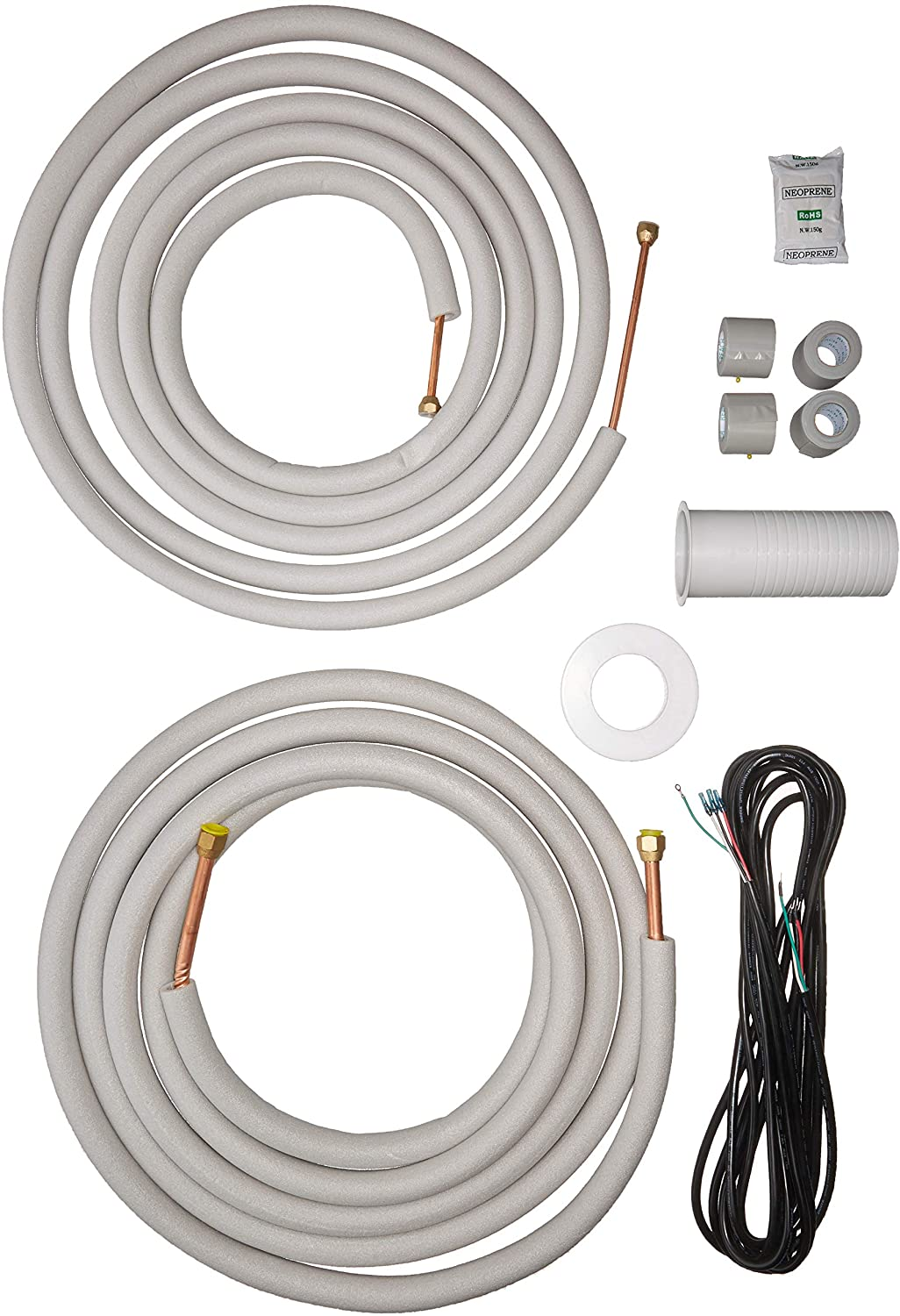 Senville 25 Ft. Copper Pipes for Mini Split Air Conditioner, 3/8