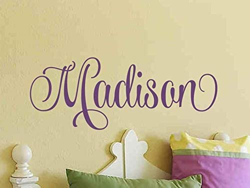 Girls Name Wall Decal Girls Name Decal Nursery Bedroom Bed Room Wall Decor Childrens Kids Room Custom Personalized Monogram Vinyl Lettering - Stenver Decals(Bkm1)