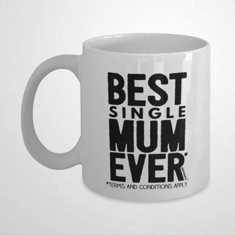 Single Mums Coffee Mug,Ceramic Mug Cup for Office and Home,Tea Milk,Birthday For Her or Him,11oz