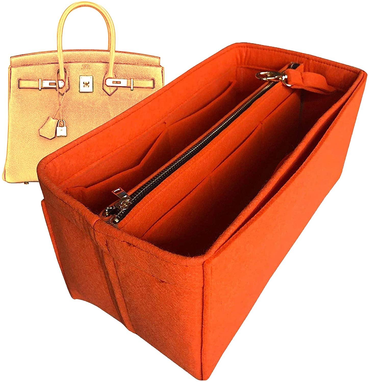 Birkin 40 Organizer, Felt Purse Insert Bag Liner Shaper Protector Pouch Tote Organize Handbag (Style B)