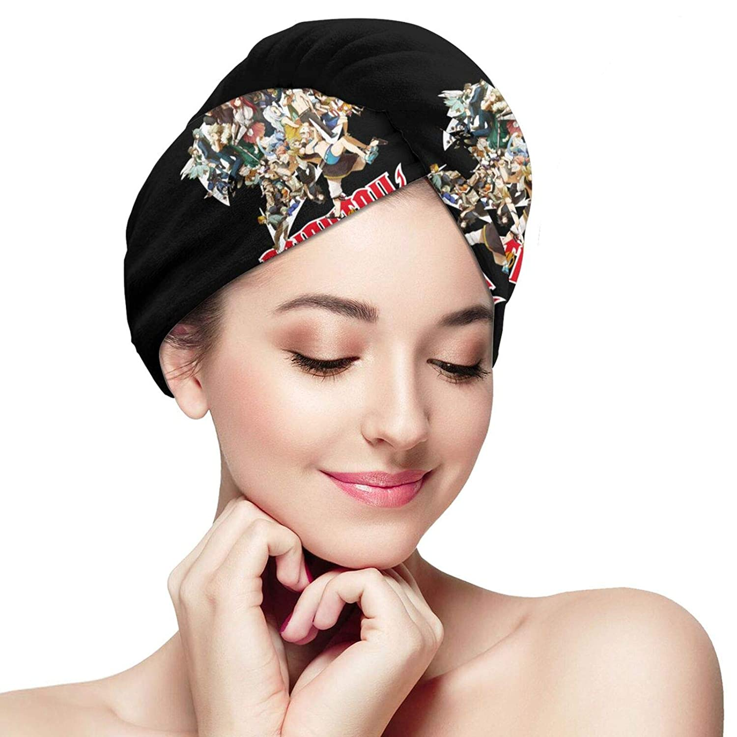 Microfiber Hair Towel Wraps For Women,Quick Dry Hair Capwith Buttonfairy - Tail Popular