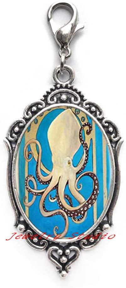 Best Friend Gift • Octopus Zipper Pull • Best Friend Zipper Pull • BFF Gift • Octopus Charm Zipper Pull-HZ0153
