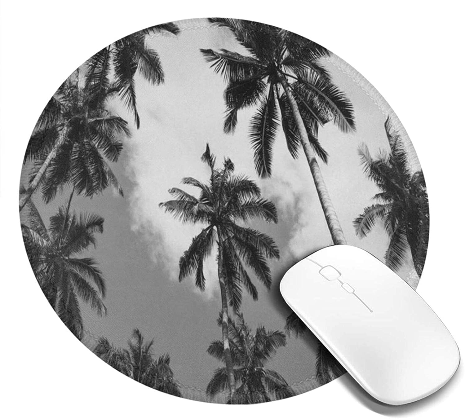 Mouse Pad Round for Kids Palm Tree Palm Tree Mini Cute Mouse Pad Mat Women Girls Cool Personalized Gaming Non Slip Mousepad for Computer Laptop Office Non Slip
