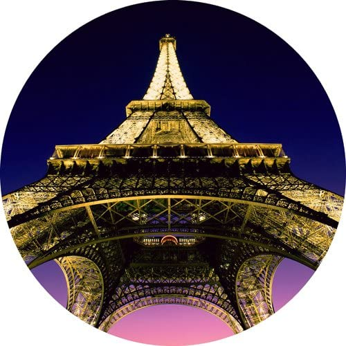 France Eifel Tower Round THICK Mousepad Mouse Pad Great Gift Idea