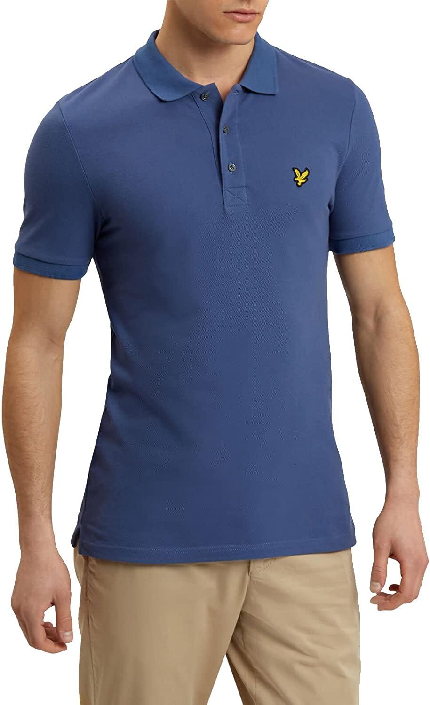 Men's Lyle and Scott Plain Polo Shirt in Blue