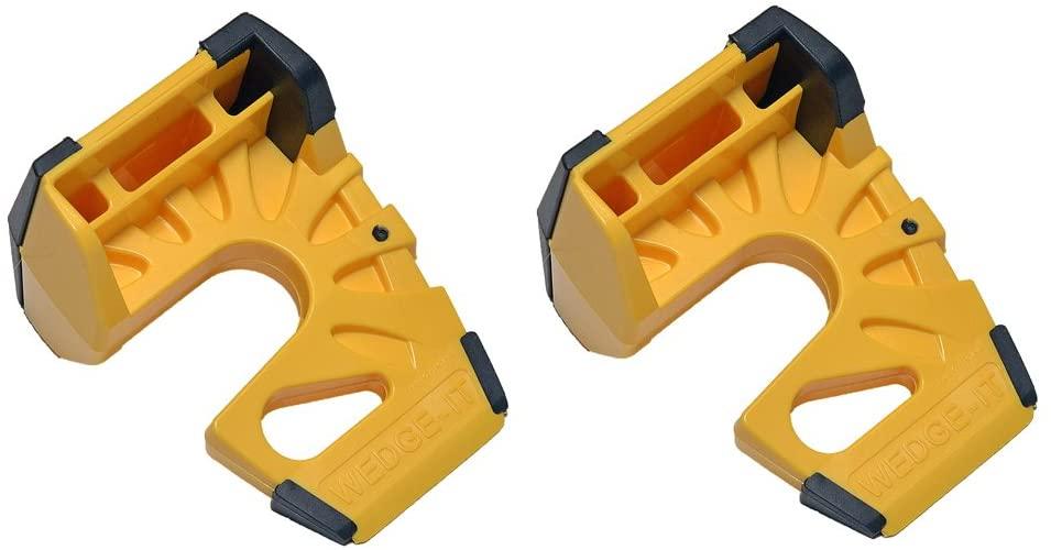 Wedge-It - The Ultimate Door Stop - Yellow (2 PACK)