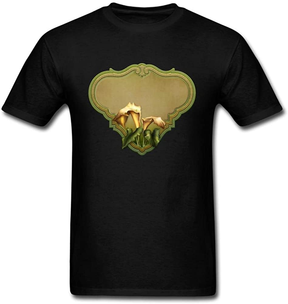 Clarenger Men's Flowers in The Mirror Short Sleeve T-Shirt