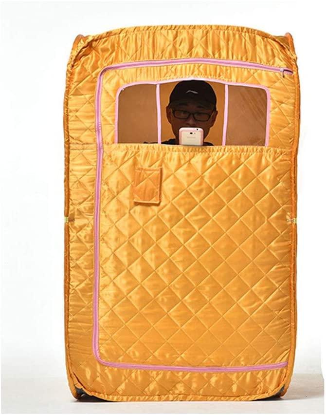 AILY Steam Sauna Portable Pot, Home Sauna Heat Cabin Seat Sauna Sauna Cabin,Loss Weight Slimming Skin Spa Machine,Yellow