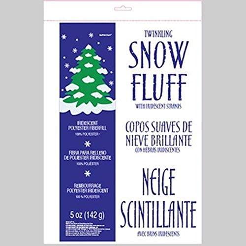 amscan Winter Wonderland Faux Snow   Christmas Decoration,White,5 oz