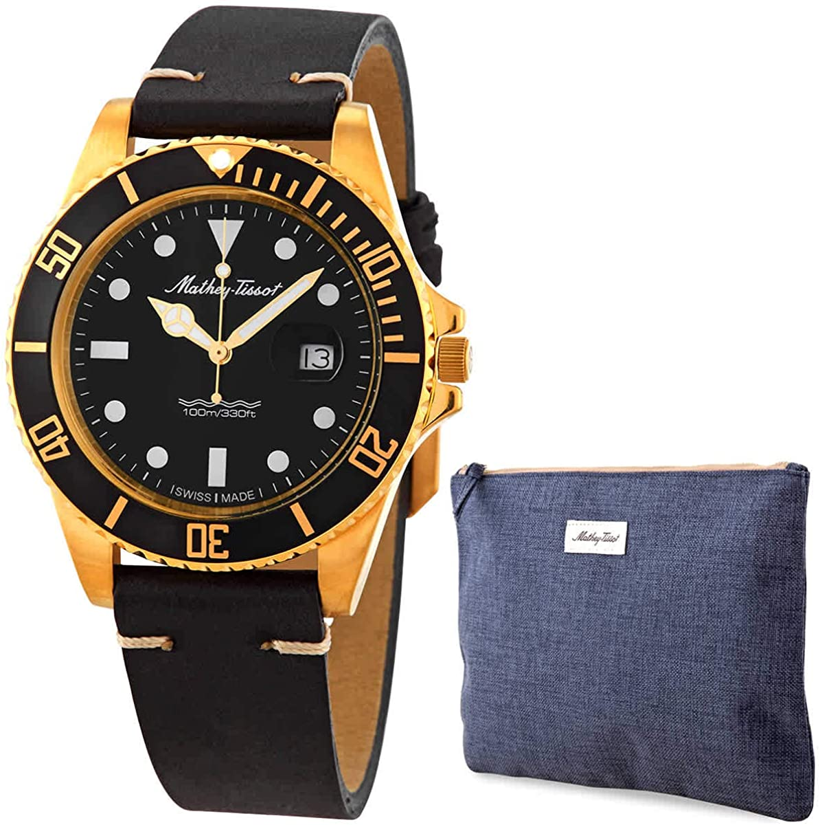 Mathey-Tissot Mathey Vintage Quartz Black Dial Men's Watch H9010PLN