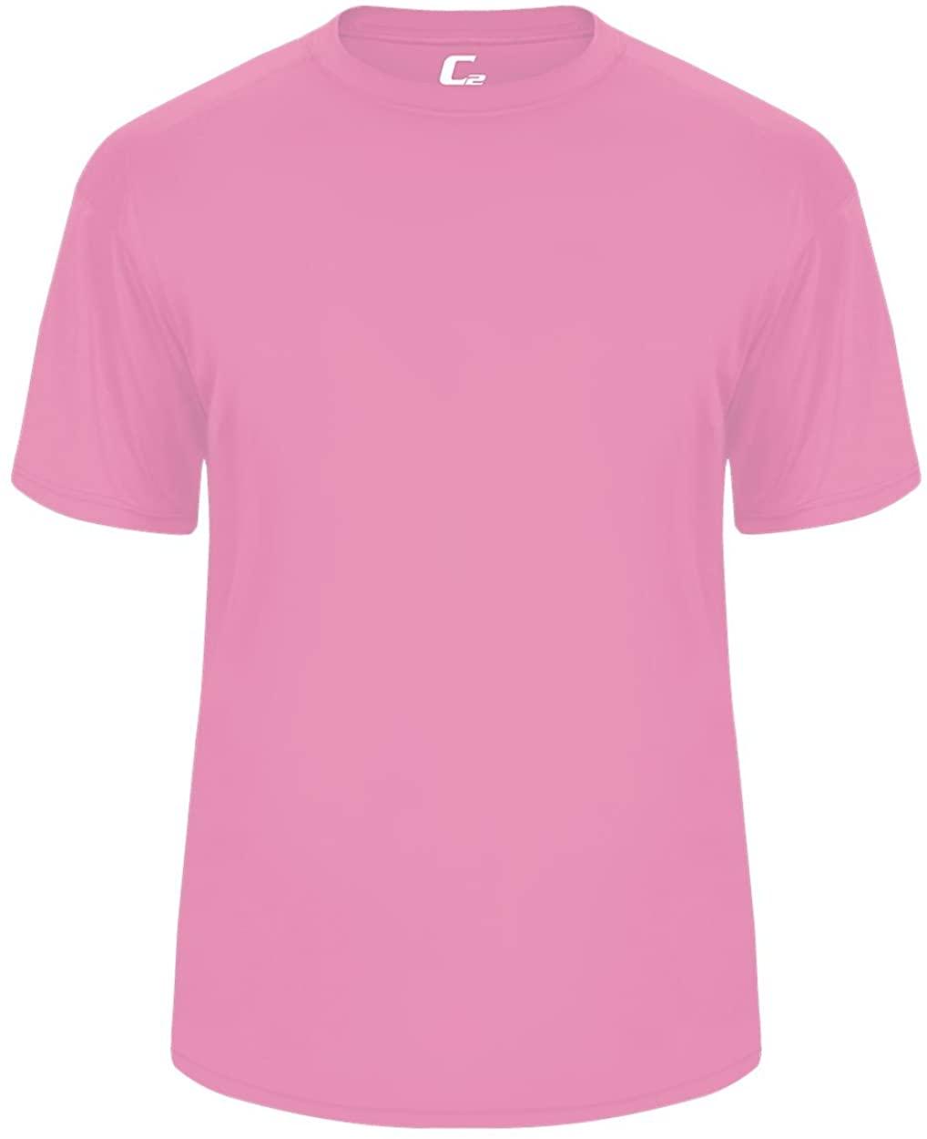 Pink Youth Large Short Sleeve Performance Wicking Athletic Sports Shirt/Undershirt/Jersey