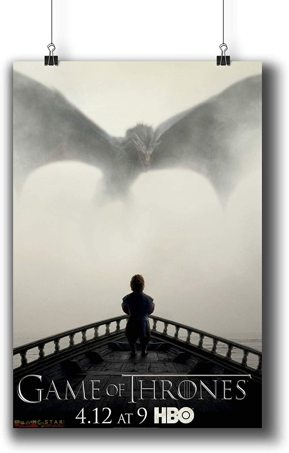 Game of Thrones TV Series Poster Small Prints 694-501 Popular TV Show,Wall Art Decor for Dorm Bedroom Living Room (A4 8x12inch 21x29cm)