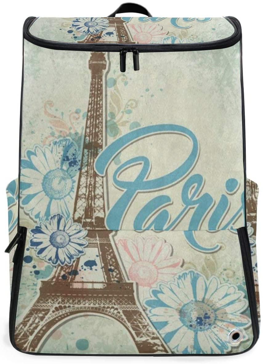 SLHFPX Travel Backpack Paris Eiffel Tower Sprot Backpack for Women Big Hiking Back Pack