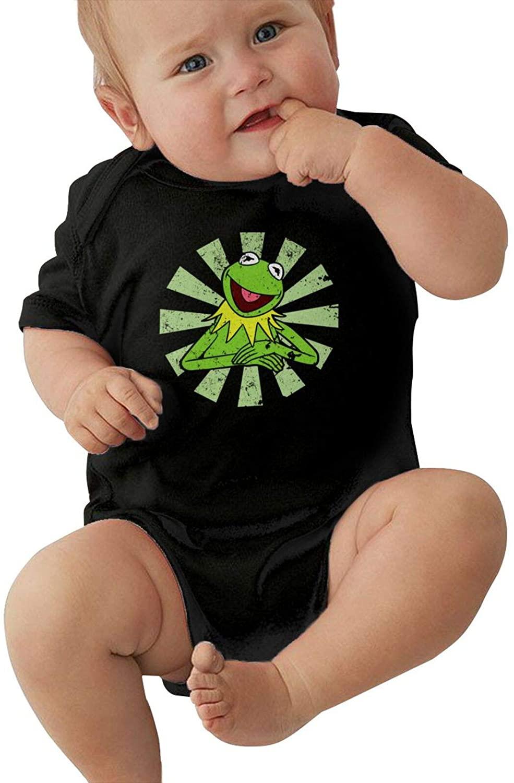 Nanobibi Kermit The Frog Infant Romper Warm Baby Jersey Creeper Bodysuit Printed Onesies Black