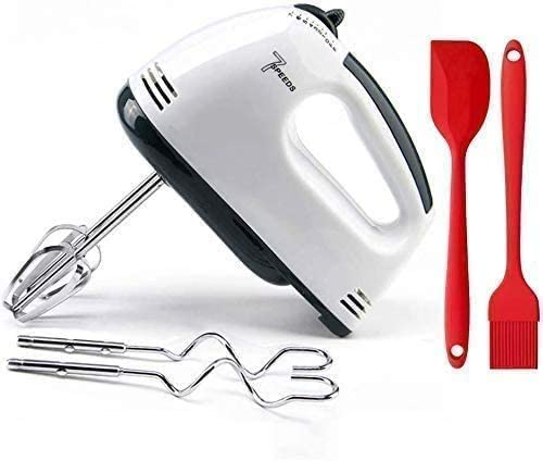XIAO WEI Electric Hand Mixer 7-Speed Hand Mixer with Turbo Hand Mixer and 7 attachments