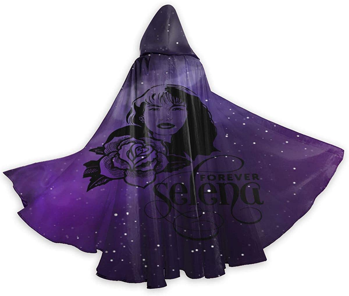 Shxjdthafa Selena Quintanilla Youth Adult Women Man Unisex Costumes Capes Cloak with Hood for Halloween Party
