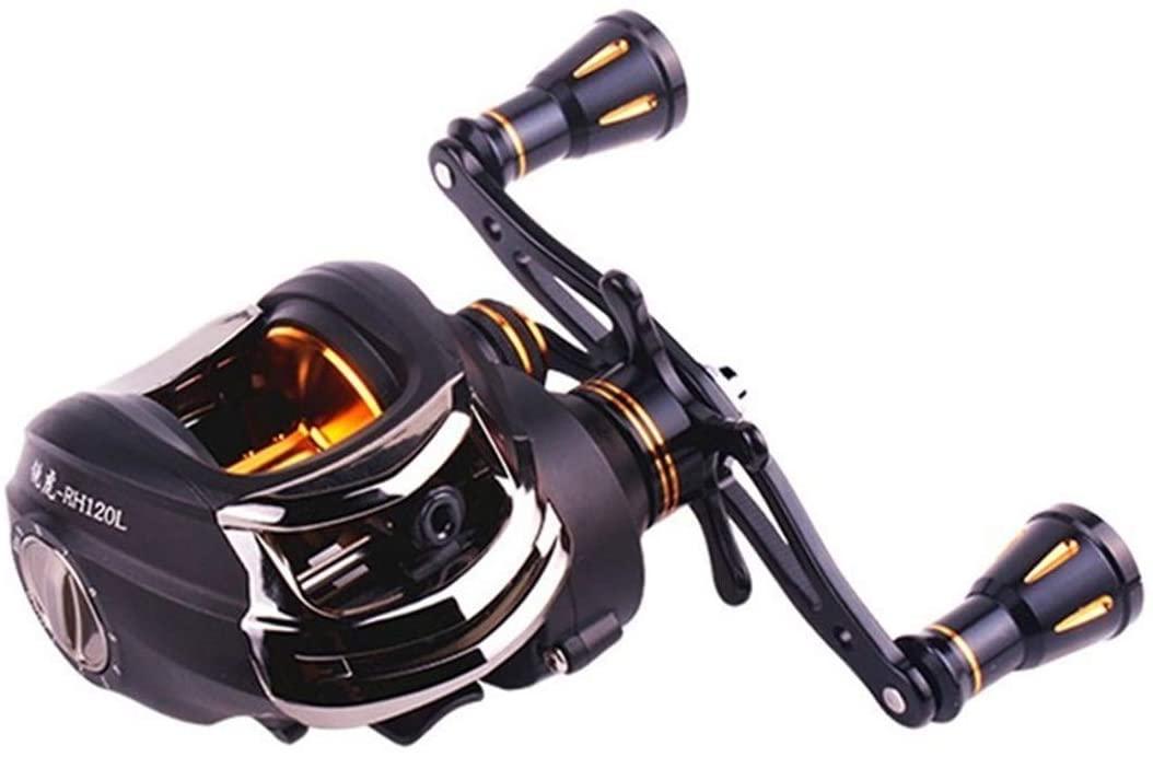 Danoensit Tiger Saltwater Fishing Casting Reel 16BB Speed Ratio 6.3:1 Line Capacity 0.26Mm/220M Left Right Hand Baitcasting Reel