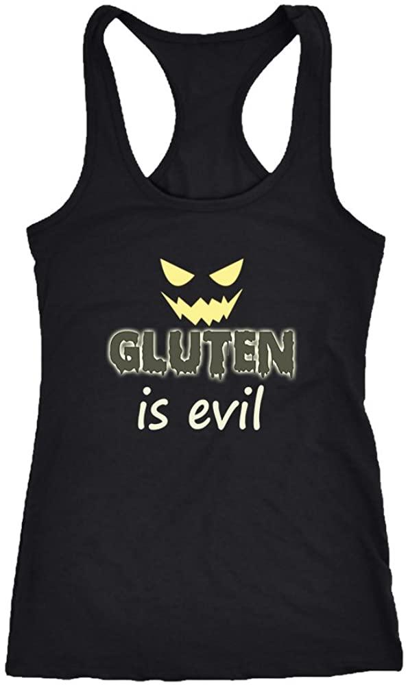 Gluten Racerback Tank Top T-Shirt. Funny Gluten Tank. Cool Shirt for Gluten (XS)