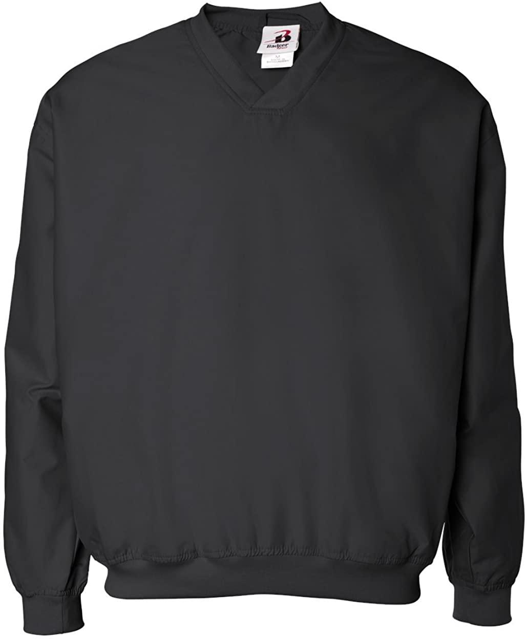 Badger Sport Microfiber Windshirt - 7618 - Black - Large