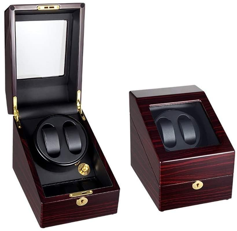 Jin-Siu Watch Winder for Automatic Watches Automatic Watch Winder Watch Box 2+3 Automatic Watch Winders Box Leather Pillows Quiet Motor 5 Rotation Modes Automatic Watch Case Winder Watch Winder Box