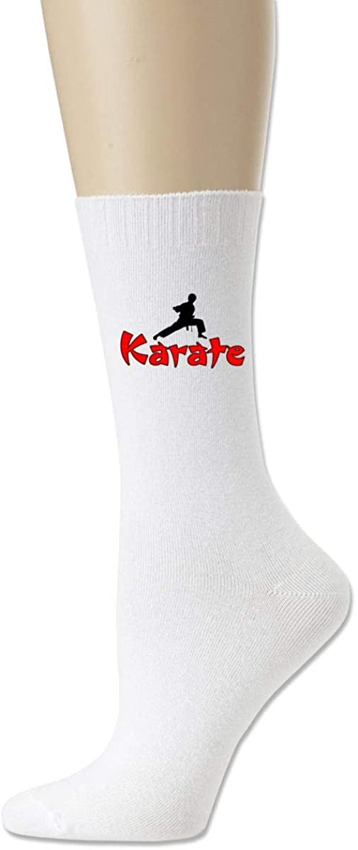 Unisex Karate Cotton Crew Socks Casual Stocking For Men Women
