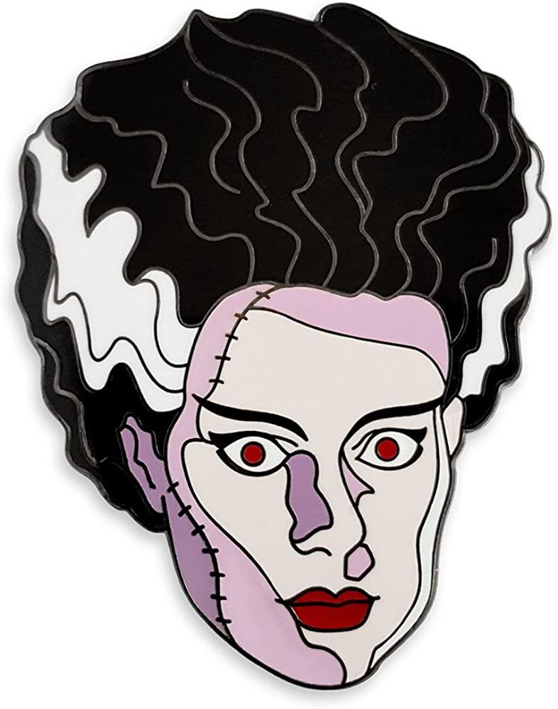 Pinsanity Vintage Bride of Frankenstein Horror Enamel Lapel Pin