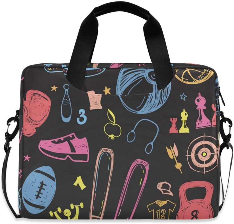 Laptop Bag, Sprot Equipment Seamless Pattern Laptop Briefcase Bag, 16 Inch Slim Laptop Backpack Laptop Case