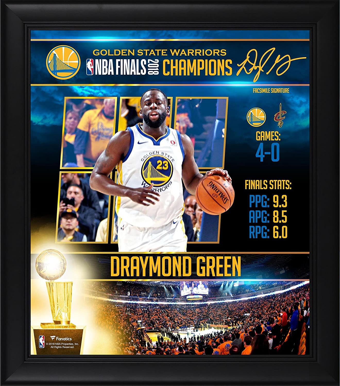 Fanatics Authentic NBA Golden State Warriors Draymond Green Golden State Warriors Framed 15