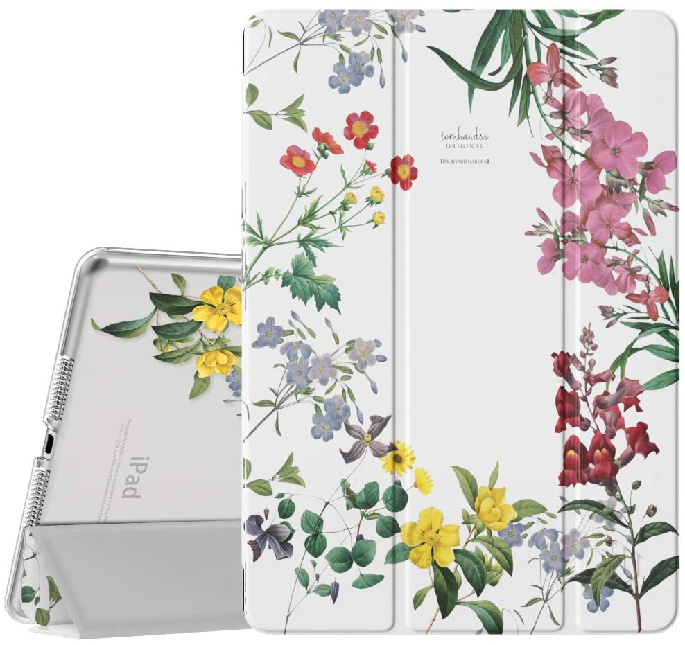 Dadanism iPad 8th Generation Case 2020/iPad 7th Generation Case 2019, [Shock Absorption] Ultra Slim Lightweight Trifold Stand Smart Cover for iPad 10.2 inch 2020/2019 Release Tablet,Fairy Flowers
