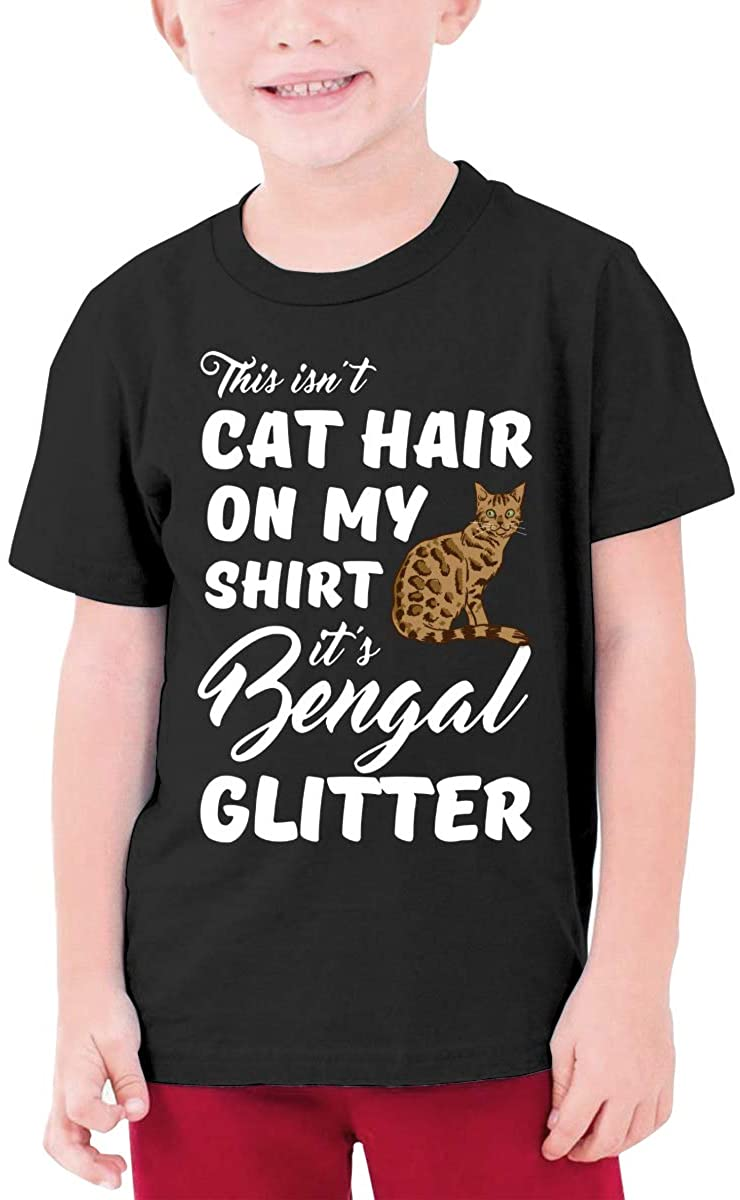 Bengal Cat Youth T-Shirt Short Sleeve Top Boys&Girls Tee