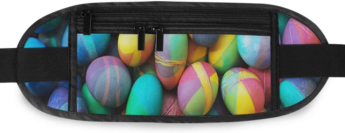 SLHFPX Easter Eggs Hidden Money Belt,Fanny Pack,Running Belt,Travel Wallet Pouch,Wasit Packs Bag,Passport Holder,Bum Bag,Belt Bags for Women Men