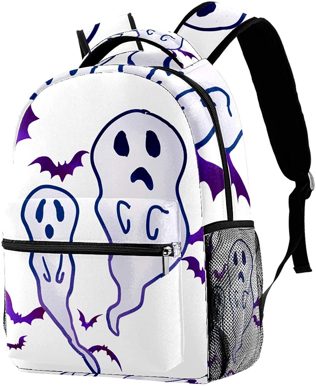 Daypack halloween Cute Ghost School Backpack for Girls Boys