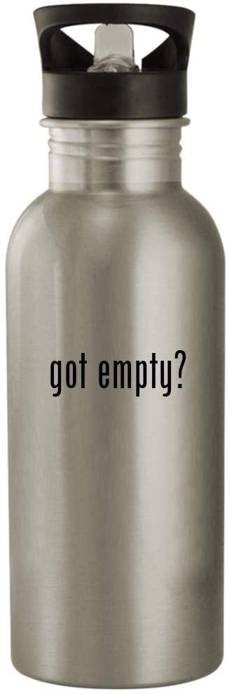 got empty? - 20oz Stainless Steel Water Bottle, Silver