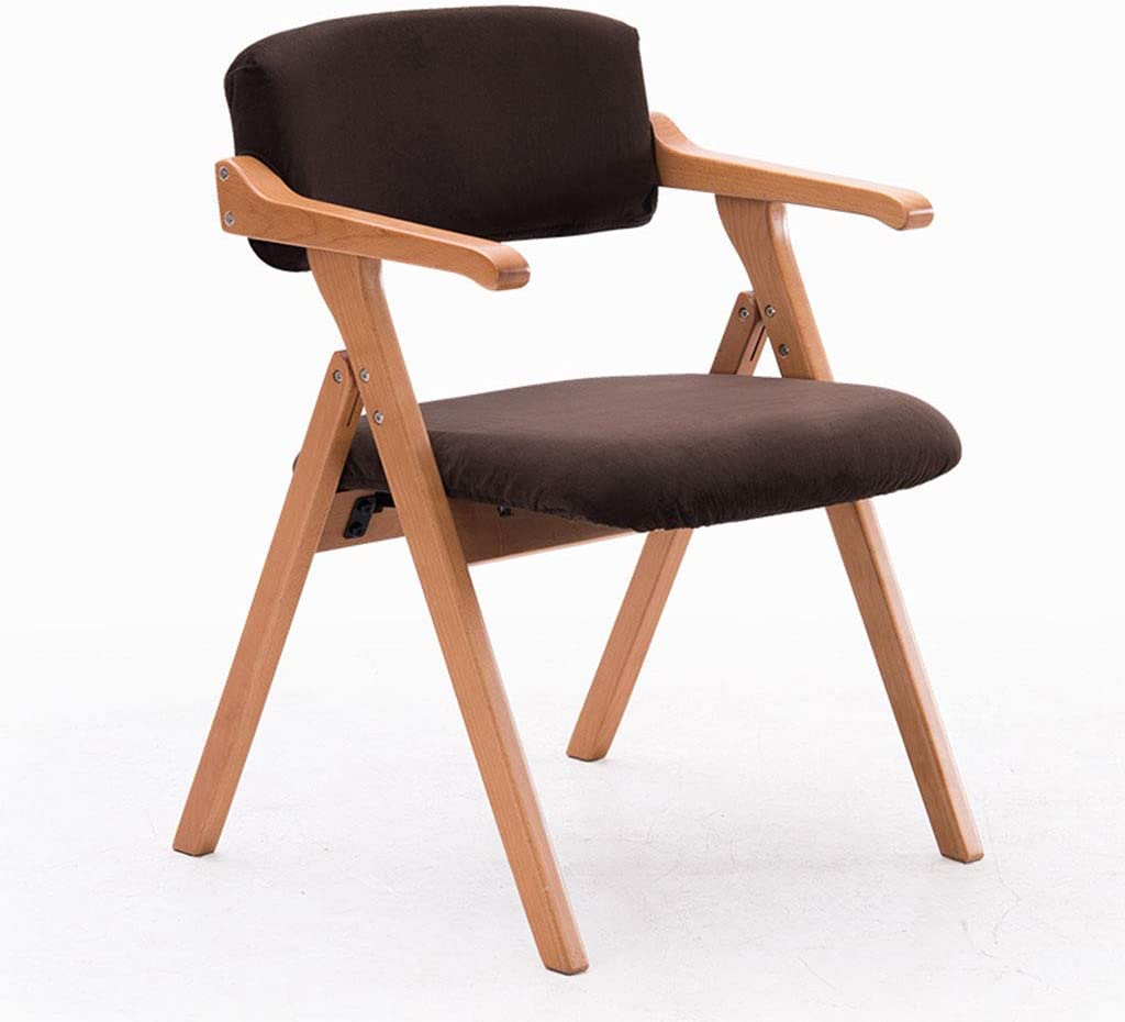 ALIPC Dining Chair Solid Wood Folding Chair Modern Minimalist with Armrests Home Dining Table and Chairs Folding Stool (Color : C)