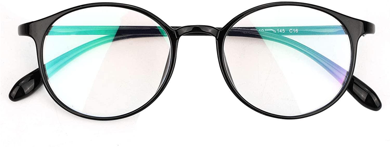 HIFOT Blue Light Blocking Glasses, Computer Reading/Gaming/TV/Phones Glasses Eyeglasses Frame Filter Blue for Women Men - Round