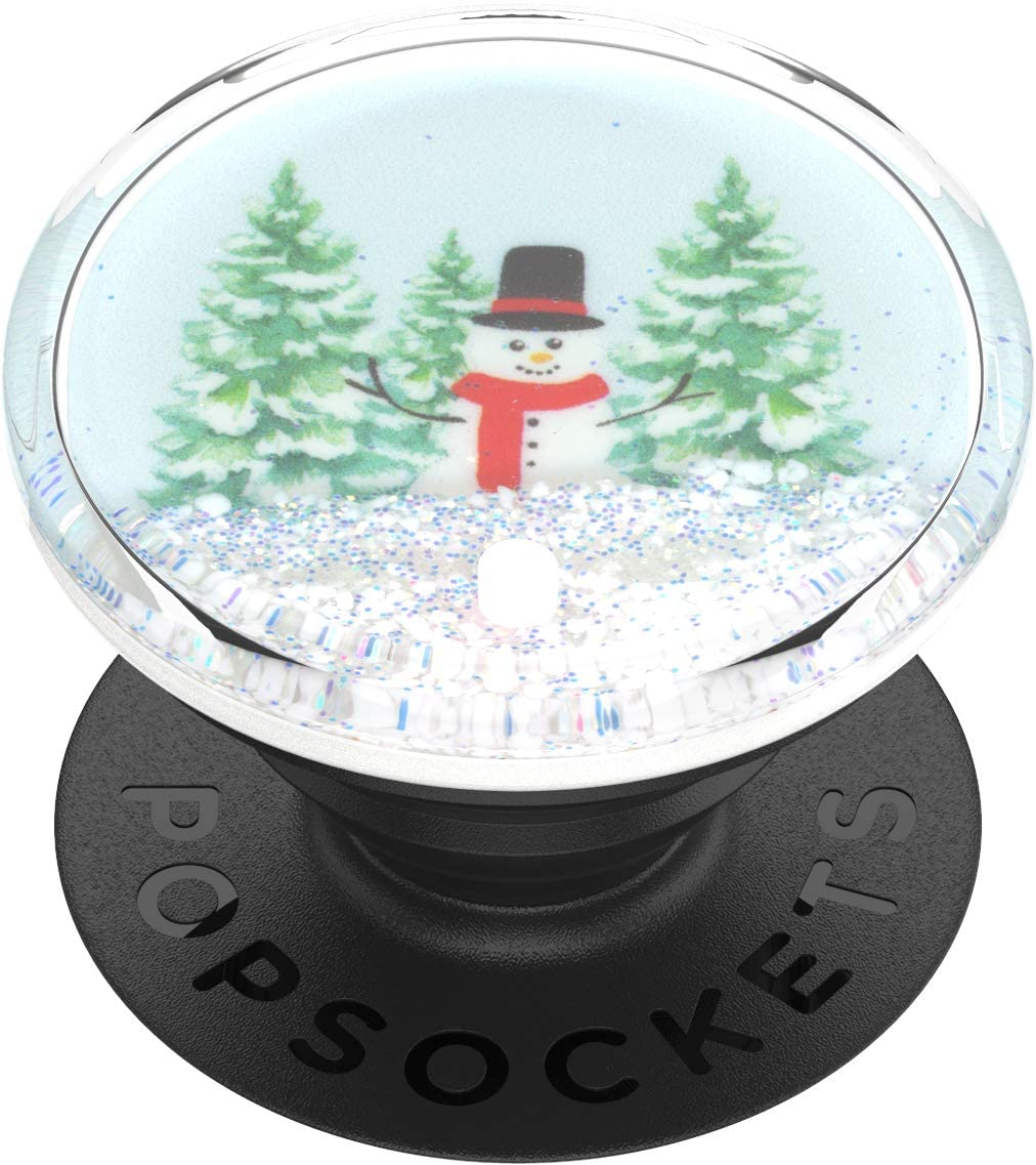 PopSockets: PopGrip with Swappable Top for Phones and Tablets - Snowglobe Wonderland Tidepool