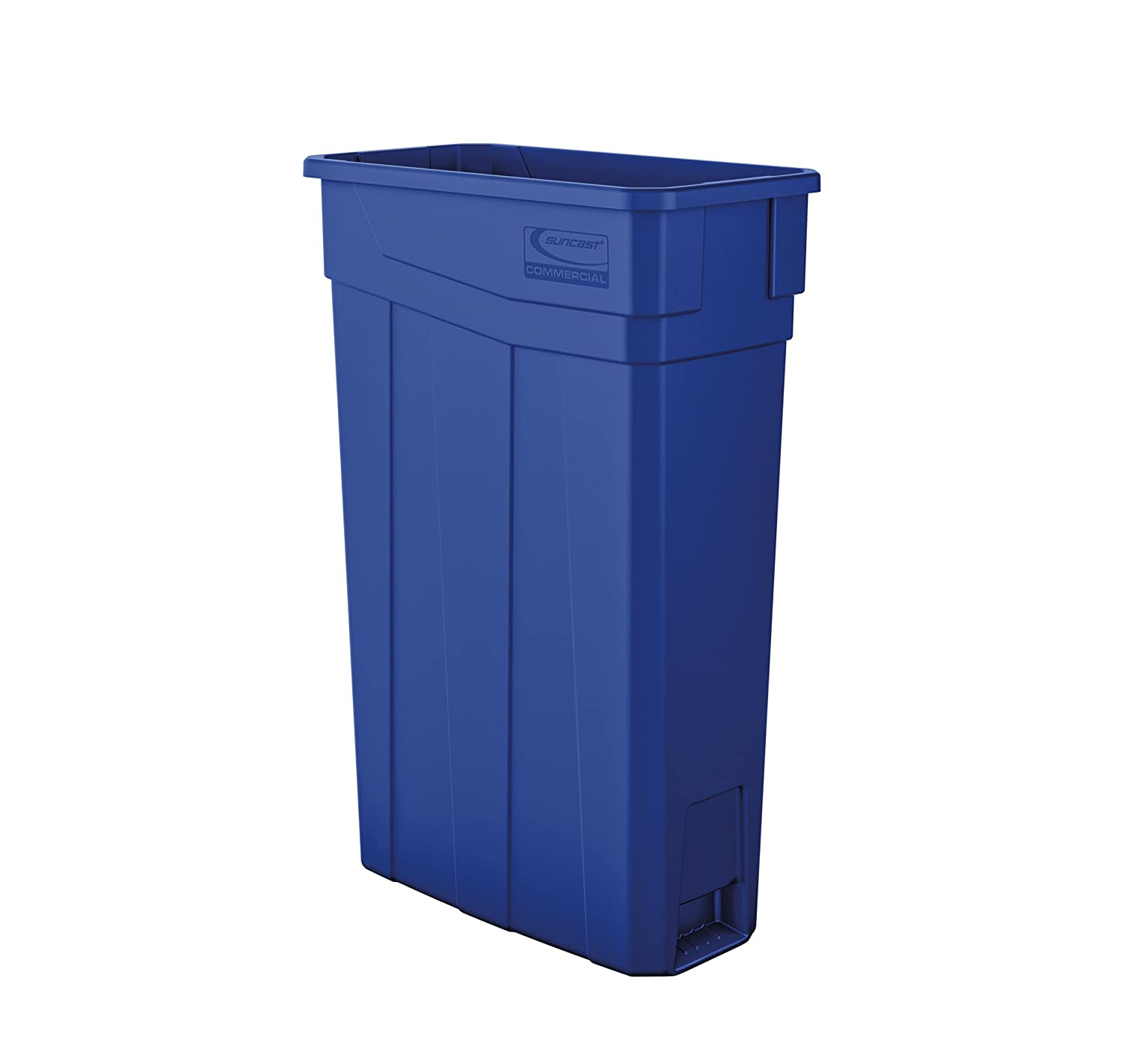 Suncast Commercial TCN2030BL Narrow Trash Can Without Handles, 30.00 Height x 11.08 Width, 23 gal Capacity, Blue