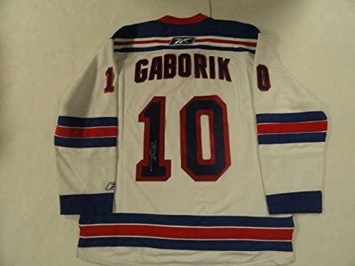 Marian Gaborik Signed Reebok New York Rangers Jersey - Autographed NHL Jerseys