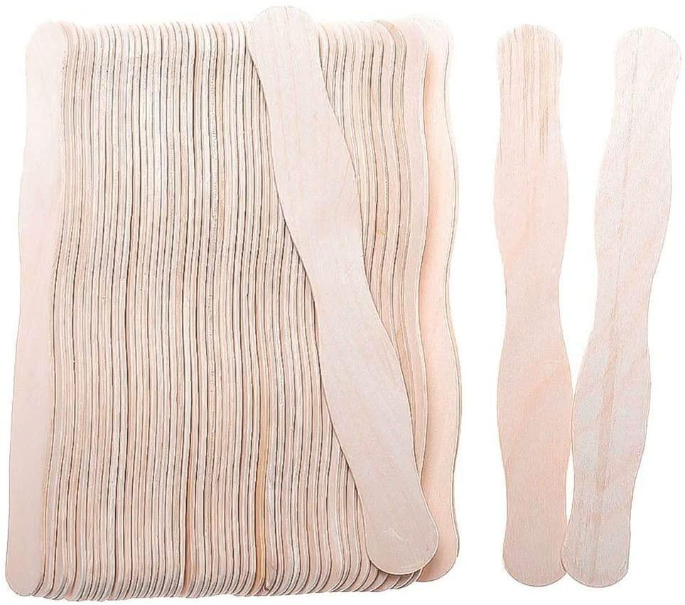 Feihoudei 50 Pieces Natural Wavy Craft Sticks, Jumbo 8