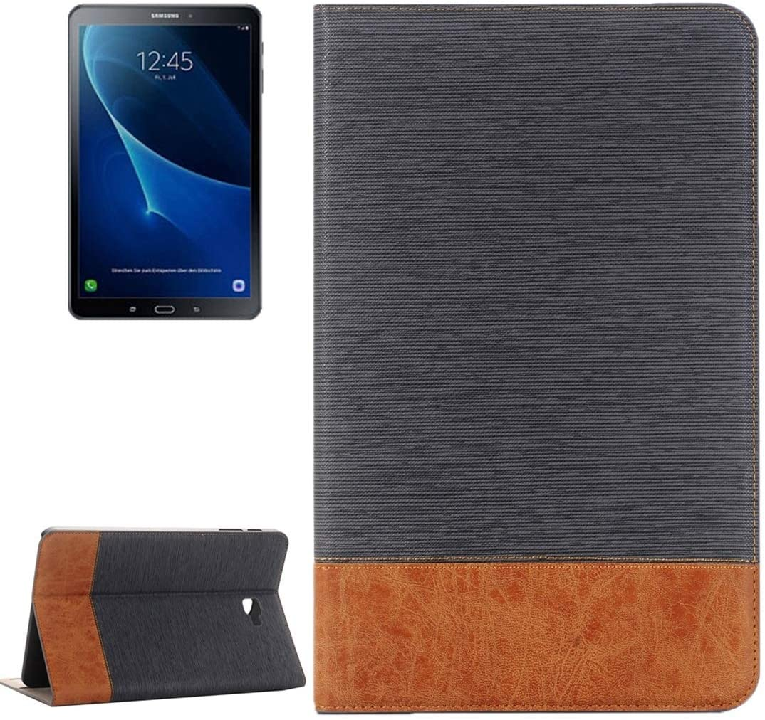 Tablet Cases Great for Galaxy Tab A 10.1 / T580 Cross Texture Horizontal Flip Leather Case with Holder & Card Slots & Wallet(Coffee) (Color : Grey)