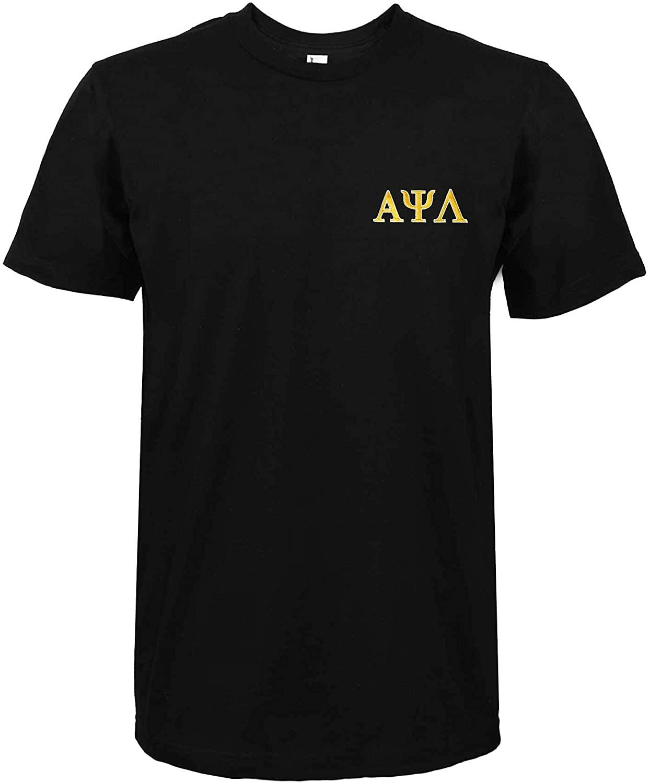 DALIX Alpha Psi Lambda Greek Letters T-Shirt Men's Embroidered Fraternity Shirt