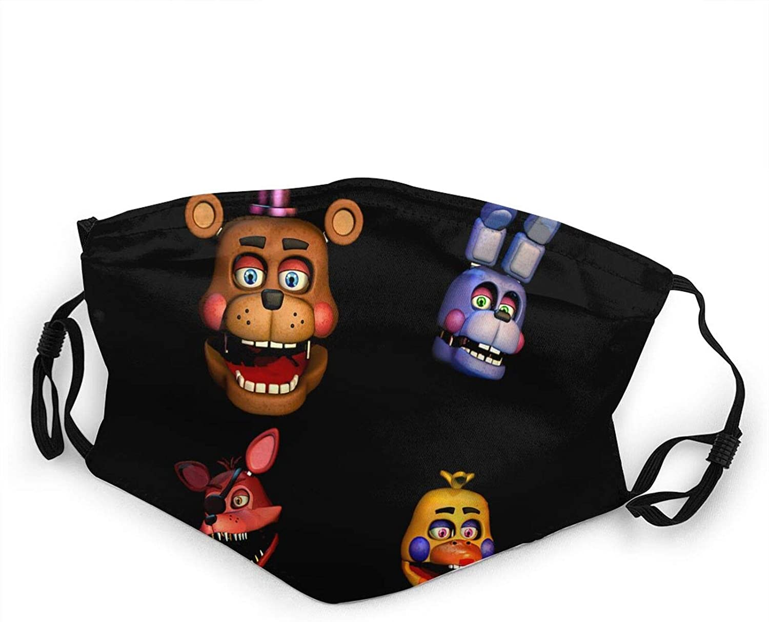 Five Nights at Freddy's Adjustable Kid's Reusable Face Mask Anti-Dust Masks Mouth Scarf Balaclava Face Protection for Outdoor 1 PCS