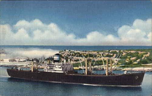 Cuba Line Mail Boats Ships Cuba Original Vintage Postcard