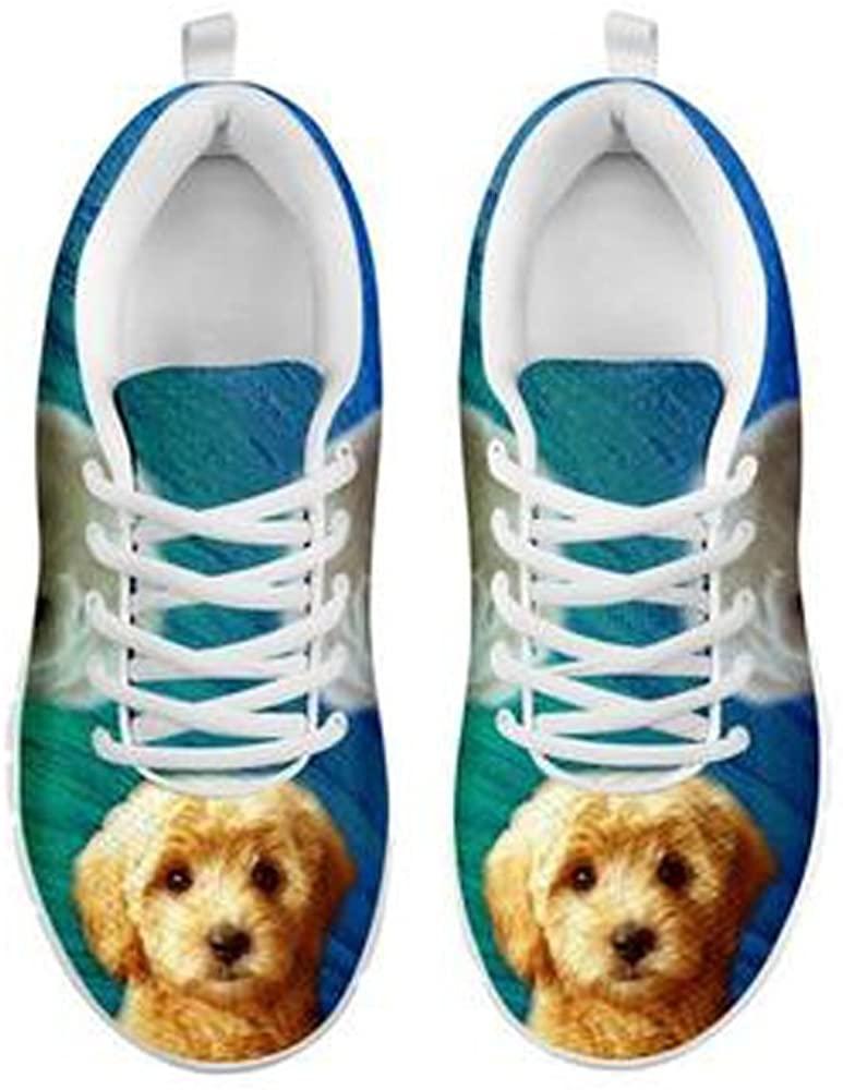Cute Golden Doodle Dog Print Men's Casual Sneakers