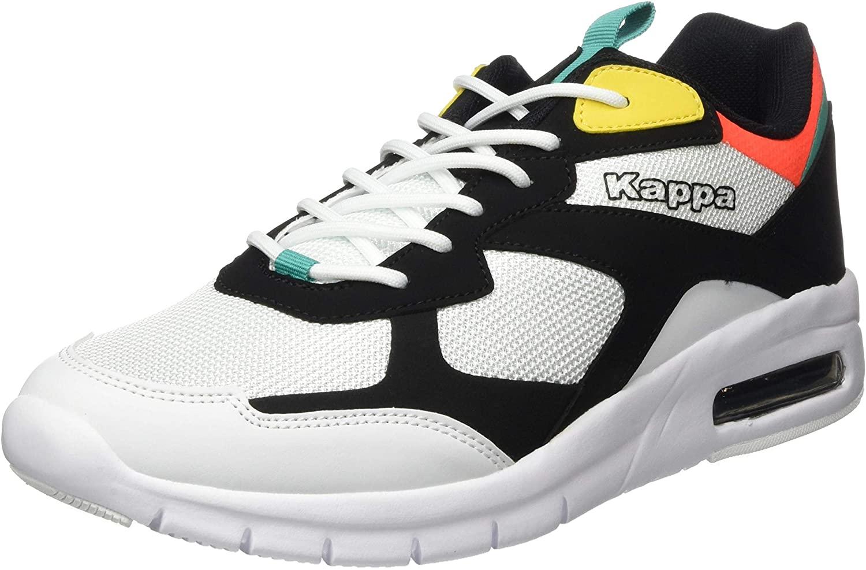 Kappa Men's Low-Top Sneakers, 1117 Black Multi, Womens 10