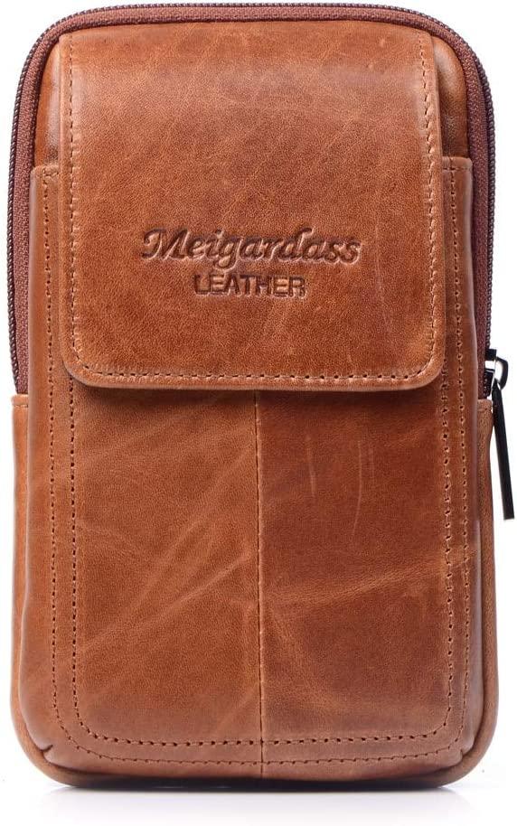 lliang Waist Pack Style Men Genuine Leather Waist Bag Male Travel Fanny Pack Belt Hip Bum Wallet Bag