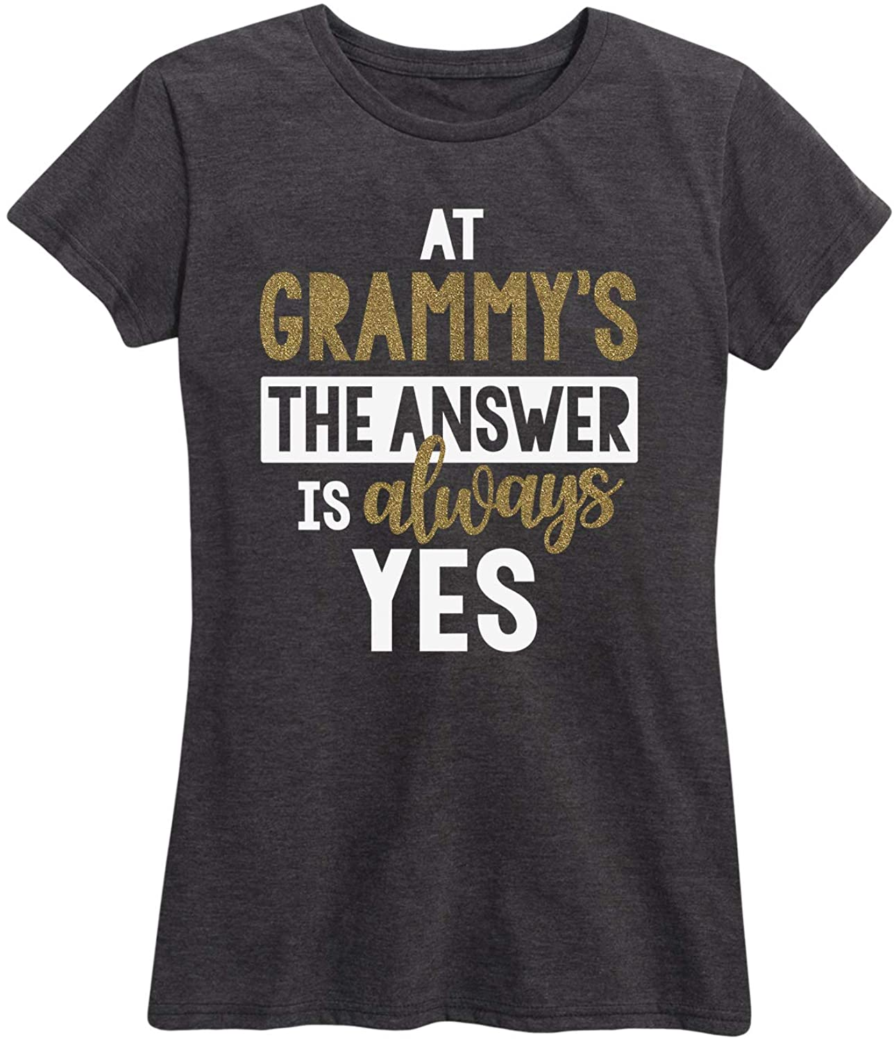 Answer is Always Yes Grammys Sparkle - Women's Short Sleeve Graphic T-Shirt