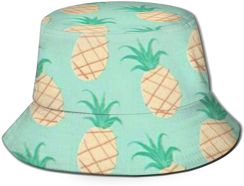 Neddelo Pineapple Summer Fisherman's Cap, Fashion Sun Hat, Breathable Washed Beach Bucket Hat for Men Women