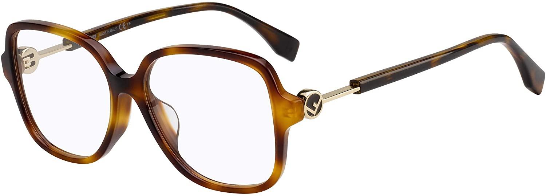 Eyeglasses Fendi FF 0364 /F 0086 Dark Havana / 00 Demo Lens